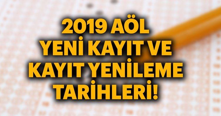 2019 Açıköğretim lisesi kayıt işlemleri!   MEB AÖL yeni kayıt ve kayıt yenileme tarihi!