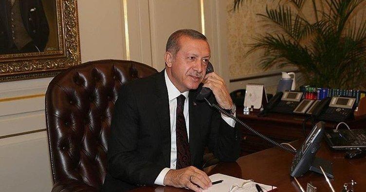 Erdoğan Barzani ile telefonda görüştü
