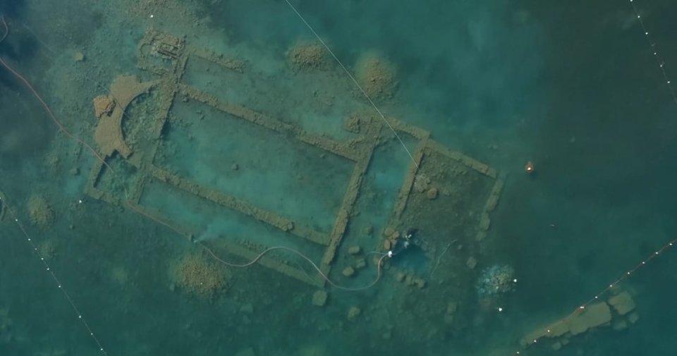 Arkeolojik çalışmalar su altından ve havadan görüntülendi