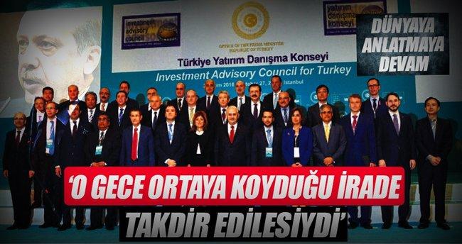 """""""Erdoğan'ın iradesine hayran kaldık"""""""
