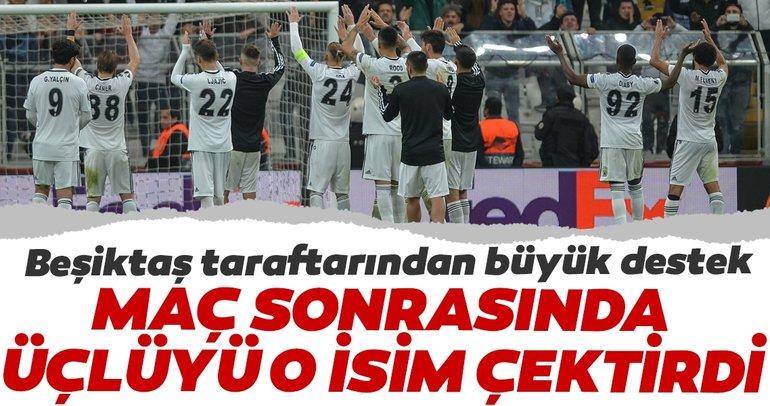 Beşiktaş taraftarının beğenisini kazandı, maç sonrasında üçlüyü o çektirdi