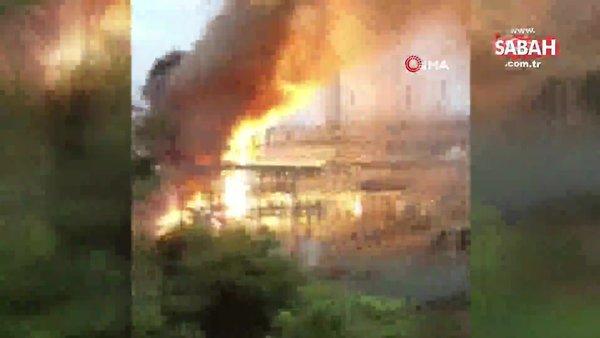 Porto Riko'da trafo merkezinde patlama | Video