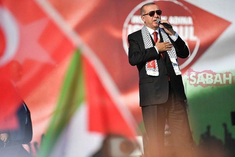 Cumhurbaşkanı Erdoğan önderliğinde Yenikapı'da Kudüs'ün yanında tek ses oldular!