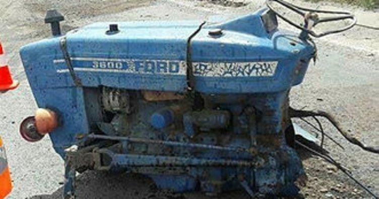 Kayseri'deki kazada traktör ikiye bölündü: 3 yaralı