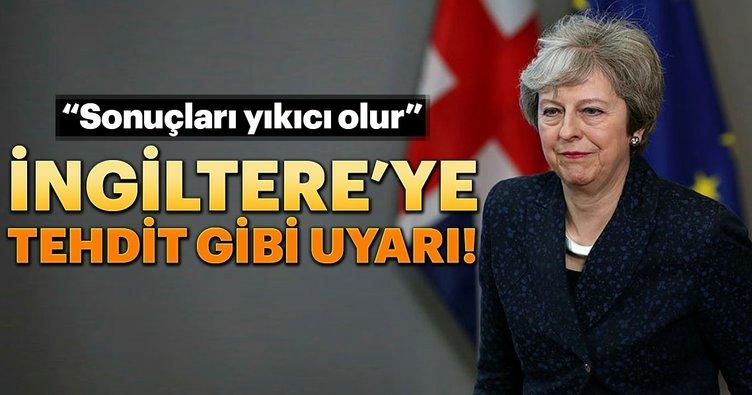 İngiltere'ye tehdit gibi uyarı!
