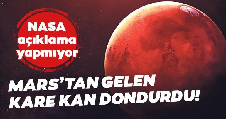 Mars'tan gelen kare tüyler ürpertti! NASA herhangi bir açıklama yapmıyor