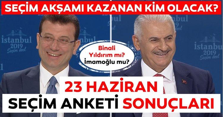 SON DAKİKA: İstanbul seçim sonuçları 23 Haziran anketinde son durum nedir? Binali Yıldırım mı, İmamoğlu mu?