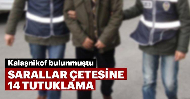 Sarallar çetesine 14 tutuklama