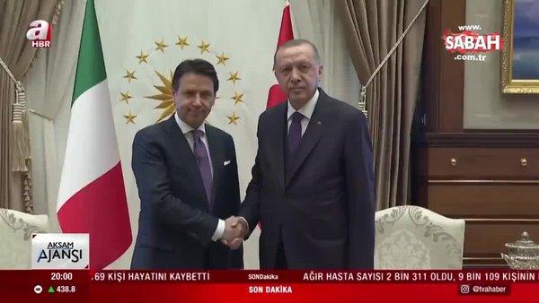 SON DAKİKA HABERİ: Başkan Erdoğan İtalya Başbakanı Conte ile görüştü | Video