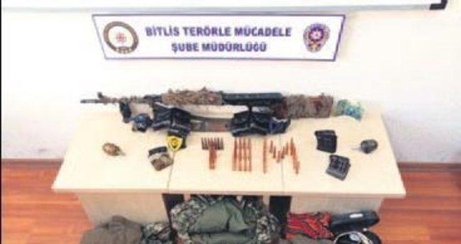 Kadın terörist Kanas'la yakalandı