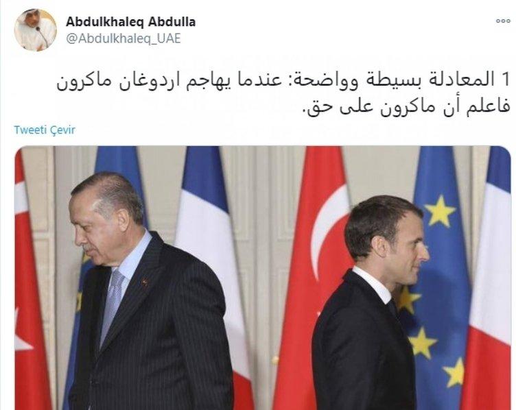 İslam'ı hedef alan Macron'a skandal destek! Suudi Arabistan'ın ardından BAE'den küstah açıklama...