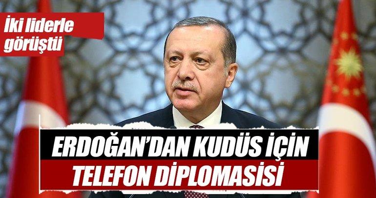 Cumhurbaşkanı Erdoğan, Steinmeier ve Abbas ile Kudüs'ü görüştü