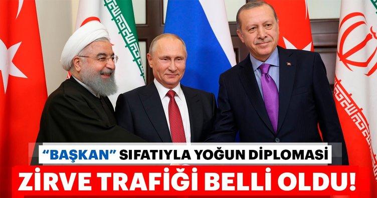 Son dakika: Başkan Erdoğan'ın eylüldeki zirve trafiği