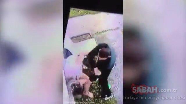 Sokak ortasında yaşanan iğrenç olay güvenlik kamerasına böyle yansıdı