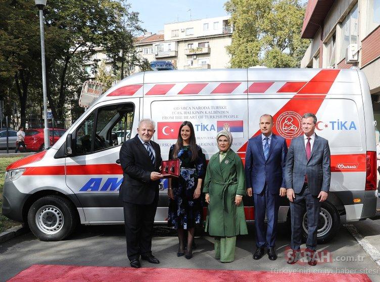 Emine Erdoğan Belgrad'da çocuk hastanesini ziyaret etti