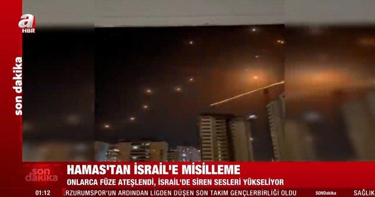 Son dakika: Hamas'tan İsrail'e sert yanıt: Onlarca füze ateşlendi, İsrail'de siren sesleri yükseliyor