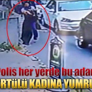 Ataşehir`de türbanlı kadına yumruklu saldırı