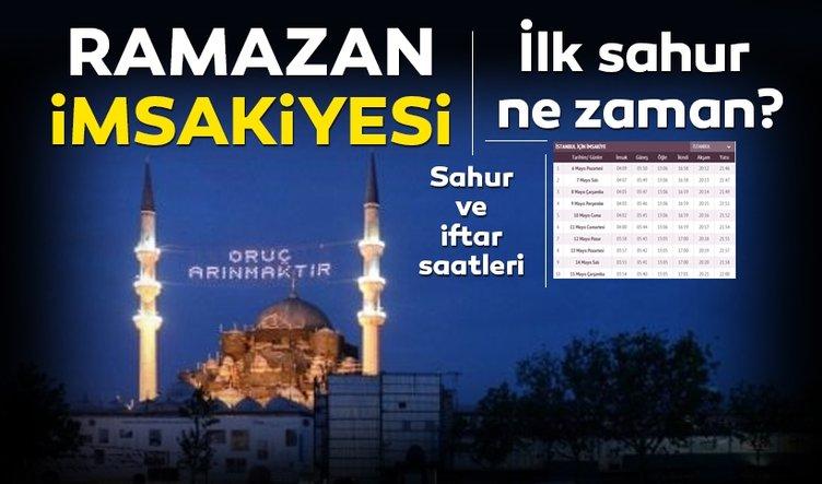 İlk sahur vakti ne zaman saat kaçta? Ramazan İmsakiyesi 2019 yayınlandı! İstanbul, Ankara imsak saati ve il il sahur saatleri burada!