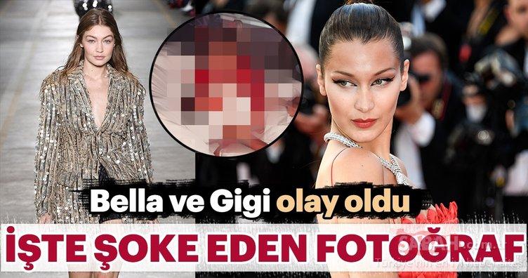 Bella Hadid ve Gigi Hadid olay oldu! İşte şoke eden fotoğraf...
