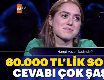 Kim Milyoner Olmak İster Özel Bölüm'de 60.000...