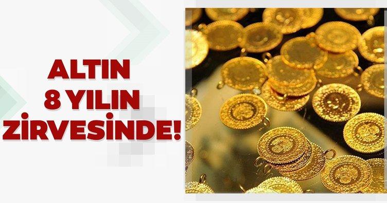 Son dakika: Altın fiyatları sekiz yılın zirvesinde! Gram altın ne kadar oldu?