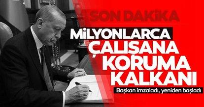 Son dakika haberi: Milyonlarca çalışana müjde! Başkan Erdoğan imzaladı, resmen başladı...