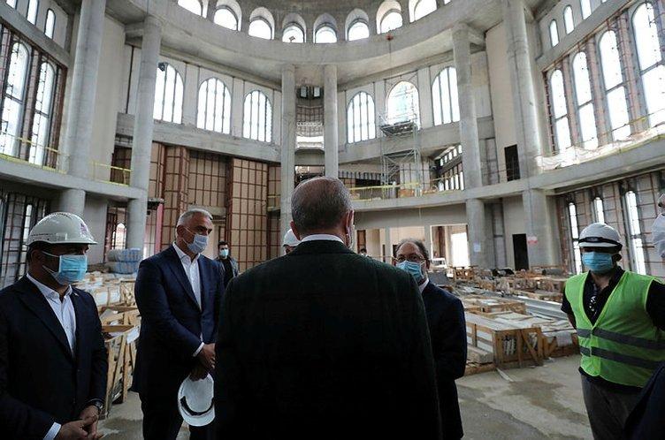 Son dakika: Başkan Erdoğan Ayasofya'da incelemelerde bulundu