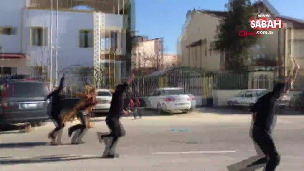 Malatya'da ünlü oyuncu Wilma Elles'in çatışma sahnesini silahlı kavga sanıp polise ihbar ettiler | Video