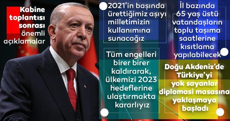Başkan Erdoğan kritik toplantı sonrası ulusa seslendi! Üretim aşamasında olduğumuz aşıyı 2021'in ilk aylarında milletimize sunacağız