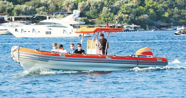 Sosyetenin gözdesi deniz taksiler
