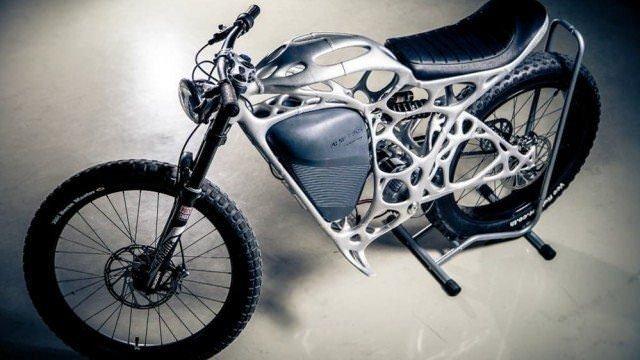 3D yazıcı ile üretilen ilk motosiklet