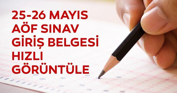 AÖF sınav giriş belgesi sorgulama! 2019 Anadolu Üniversitesi ile 25-26 Mayıs AÖF sınav yerleri hemen öğren!