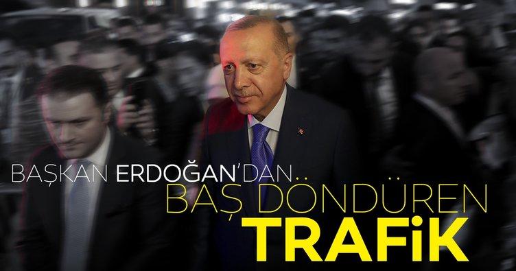Başkan Erdoğan'dan ABD'de baş döndüren trafik
