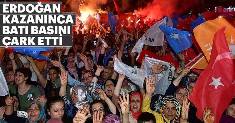 Erdoğan kazanınca Batı basını çark etti