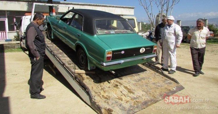 Trabzonlu gurbetçi Ford Taunus otomobilini 40 yıl sonra sakladığı yerden çıkardı!