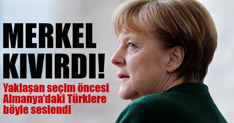 Merkel kıvırdı! Almanya'daki Türklere böyle seslendi