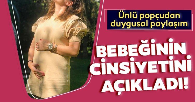 Şarkıcı Merve Özbey bebeğinin cinsiyetini sosyal medyadan duyurdu! Merve Özbey'den hamile pozu!
