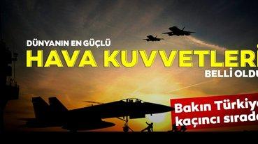 Dünyanın en güçlü hava kuvvetleri listesi açıklandı! İşte Türkiye'nin sıralaması