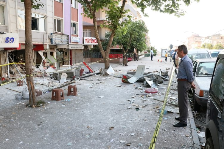 Samsun'da lokantada doğalgaz patlaması