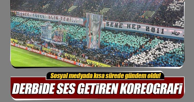 Trabzonsporlu taraftarlardan 2010/2011 sezonuna gönderme yapan koreografi!