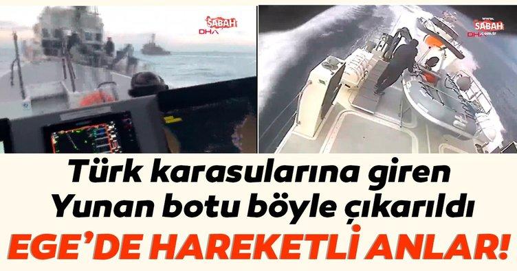 Son dakika haberi: Ege'de Türk karasularına giren Yunan botuna anında müdahale edildi