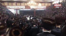 ABD'de fanatik Yahudiler düğünde Covid-19 önlemlerini hiçe saydı   Video