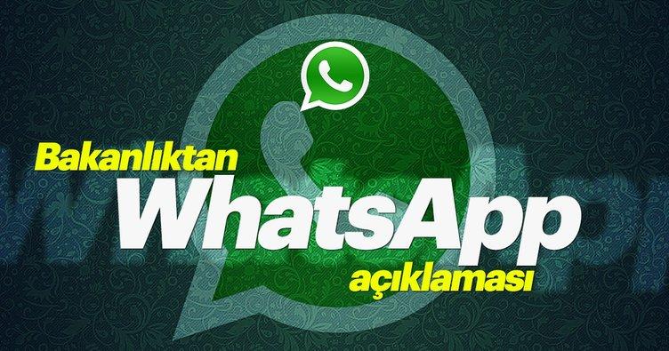 Bakanlıktan son dakika WhatsApp açıklaması! WhatsApp geldi mi?