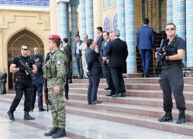 Davutoğlu'nu Kürt keskin nişancılar korudu