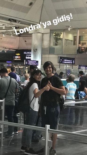 Oyuncu Nurgül Yeşilçay, oğlu Osman'ı İngiltere'ye götürdü