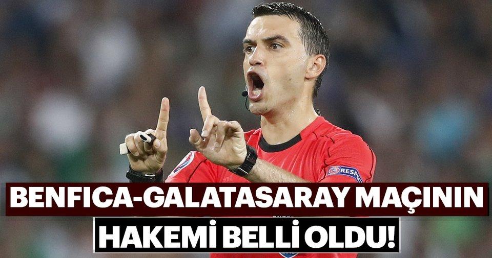 Benfica Galatasaray: Benfica-Galatasaray Maçını Ovidiu Hategan Yönetecek