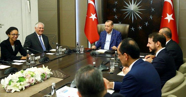 Cumhurbaşkanı Erdoğan, ABD Dışişleri Bakanı Tillerson'ı kabul etti!