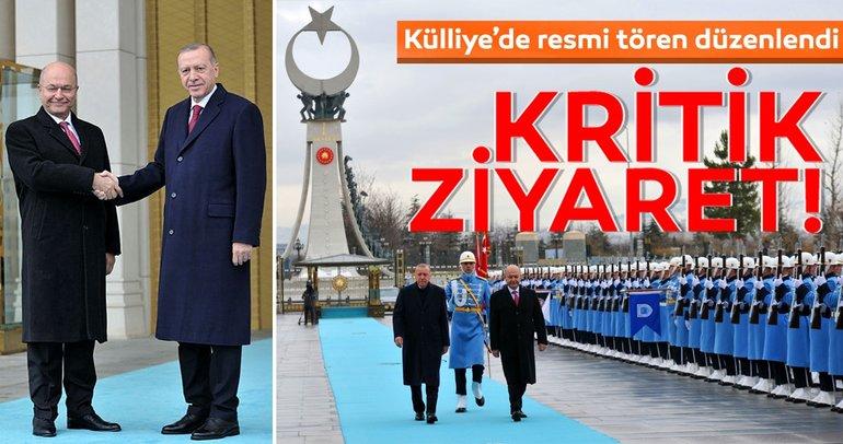 Irak Cumhurbaşkanı Salih Ankara'da resmi törenle karşılandı