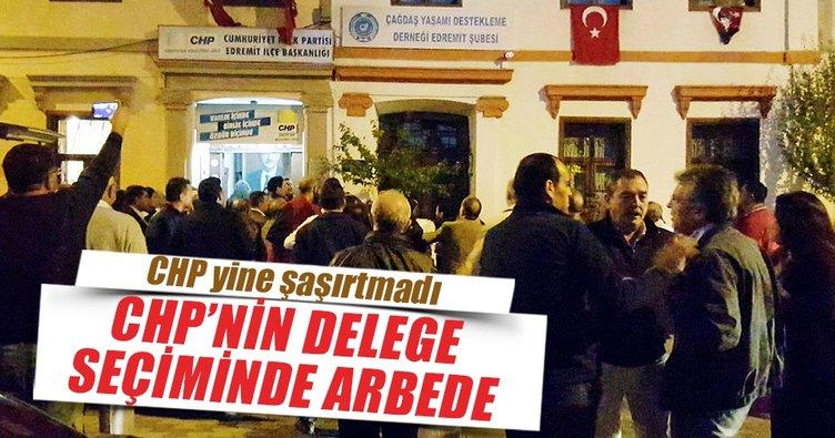 CHP'nin delege seçiminde arbede