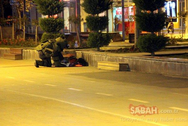 Bolu'da şüpheli valiz, bomba imha robotu ile patlatıldı
